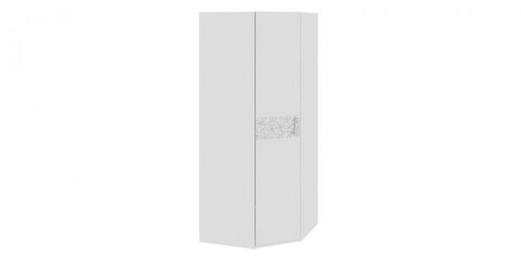 Шкаф распашной угловой давос белый матовый.