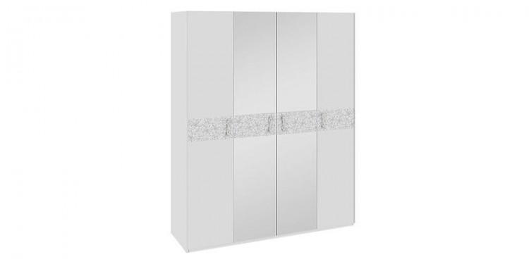Шкаф распашной давос белый матовый.