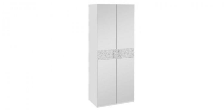 Шкаф распашной двухдверный давос белый матовый.